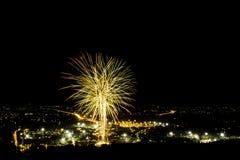 Fuochi d'artificio della Tailandia Fotografie Stock Libere da Diritti