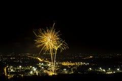Fuochi d'artificio della Tailandia Immagine Stock