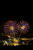 Fuochi d'artificio della Tailandia Fotografia Stock Libera da Diritti