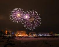 2015 fuochi d'artificio della vigilia del nuovo anno Fotografia Stock