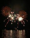 Fuochi d'artificio dello Sparkler Fotografia Stock
