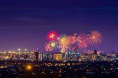 Fuochi d'artificio di Adelaide Fotografia Stock Libera da Diritti