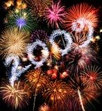 Fuochi d'artificio di anno 2009 Fotografia Stock