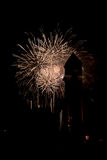Fuochi d'artificio di Barcellona Immagini Stock