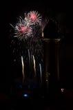 Fuochi d'artificio 1 di Barcellona Fotografia Stock
