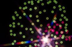 Fuochi d'artificio di Bokeh Fotografie Stock Libere da Diritti