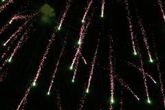 Fuochi d'artificio di caduta fotografia stock
