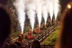 Fuochi d'artificio di Demon's Fotografia Stock Libera da Diritti