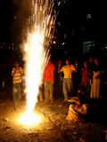 Fuochi d'artificio di distorsione di velocità! Fotografia Stock