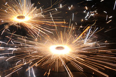 Fuochi d'artificio di Diwali Fotografia Stock