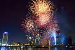 Fuochi d'artificio di Dsf Fotografie Stock Libere da Diritti