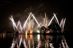 Fuochi d'artificio di Epcot fotografie stock