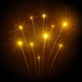 Fuochi d'artificio di festa Fotografie Stock