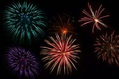 Fuochi d'artificio di festa dell'indipendenza Immagini Stock
