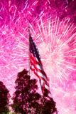 Fuochi d'artificio di festa dell'indipendenza Fotografia Stock
