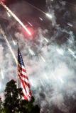 Fuochi d'artificio di festa dell'indipendenza Fotografie Stock