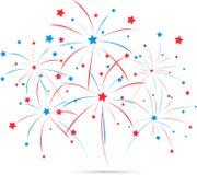 Fuochi d'artificio di festa dell'indipendenza Immagini Stock Libere da Diritti