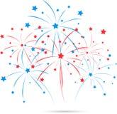 Fuochi d'artificio di festa dell'indipendenza Fotografia Stock Libera da Diritti