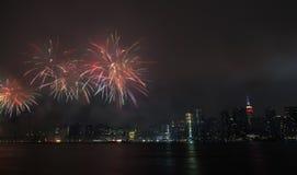 Fuochi d'artificio di festa dell'indipendenza Immagine Stock