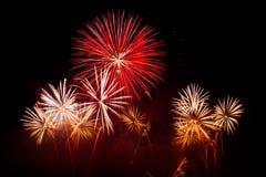Fuochi d'artificio di Ginevra - della Svizzera Immagini Stock Libere da Diritti