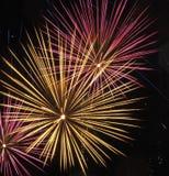 Fuochi d'artificio di giorno del Canada Immagini Stock