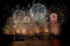 Fuochi d'artificio di giorno dell'Australia Immagini Stock