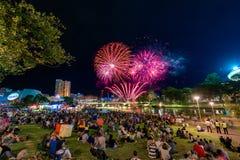 Fuochi d'artificio di giorno dell'Australia Immagini Stock Libere da Diritti
