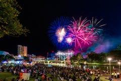 Fuochi d'artificio di giorno dell'Australia Fotografia Stock