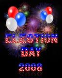Fuochi d'artificio di giorno di elezione 2008 Fotografie Stock Libere da Diritti