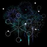 Fuochi d'artificio di inverno Fotografia Stock Libera da Diritti