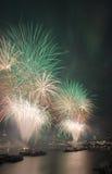 Fuochi d'artificio di Londra Immagine Stock Libera da Diritti