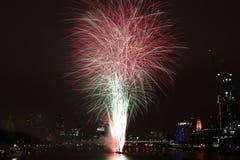 Fuochi d'artificio di Londra Fotografia Stock Libera da Diritti