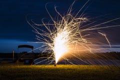 Fuochi d'artificio di luglio! Immagini Stock Libere da Diritti