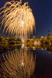 2016 fuochi d'artificio di maratona, lago New York central Park Immagine Stock