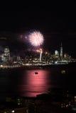 Fuochi d'artificio di New York fotografie stock