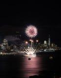 Fuochi d'artificio di New York immagine stock