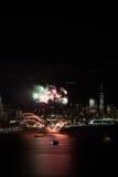 Fuochi d'artificio di New York fotografia stock