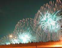 Fuochi d'artificio di New York City il 4 luglio Fotografia Stock