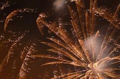 Fuochi d'artificio di notte Fotografia Stock
