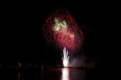 Fuochi d'artificio di notte Fotografia Stock Libera da Diritti