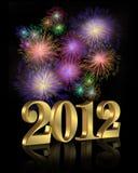 Fuochi d'artificio di nuovo anno 2012 Fotografia Stock Libera da Diritti