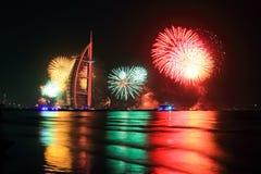 Fuochi d'artificio di nuovo anno Fotografie Stock