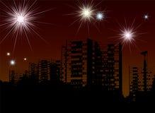 Fuochi d'artificio di nuovo anno royalty illustrazione gratis