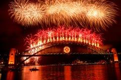 Fuochi d'artificio di nuovo anno Fotografie Stock Libere da Diritti