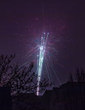Fuochi d'artificio di nuovo anno Immagini Stock