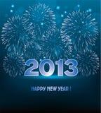 fuochi d'artificio di nuovo anno di vettore Fotografie Stock