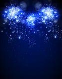 Fuochi d'artificio di nuovo anno felice Fotografie Stock Libere da Diritti