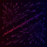 Fuochi d'artificio di ?olorful Illustrazione di Stock