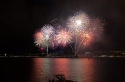 Fuochi d'artificio di parata in Gelendgik, Russia Fotografia Stock