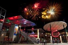 Fuochi d'artificio di Reno di baseball degli assi Immagine Stock Libera da Diritti